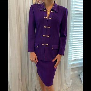 Bold Purple St. John Knit Set